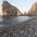 Simeiz, the beach at the Diva cliff