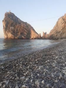 Фото пляжа Симеиз, у скалы Дива