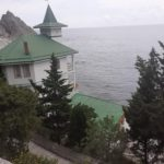 the beach at the health resort Yunost